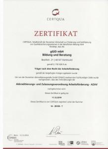 gGid AZAV-Urkunde