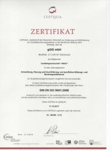 gGid ISO-Urkunde